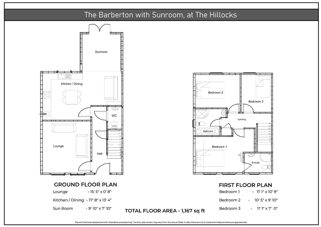 Floorplan 1 of The Barberton With Sunroom, The Hillocks, Altnagelvin, Derry