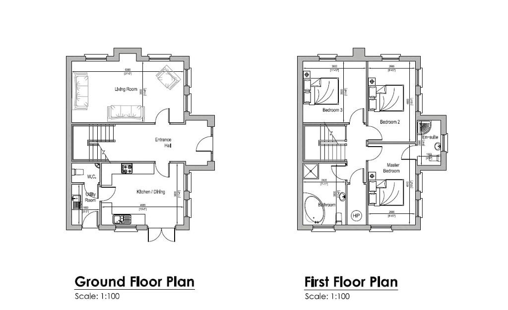 Floorplan 2 of House Type B, Millbrook, Washingbay Road, Coalisland