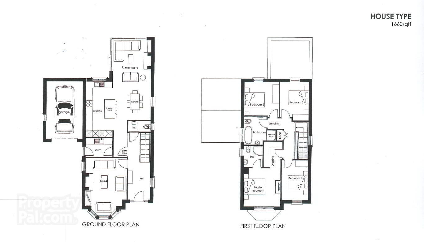 Plan Dressing En U mulberry lodge, 168a cushendall road, ballymena - propertypal